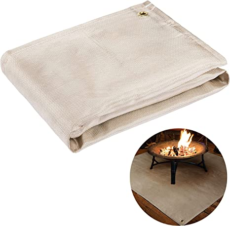 Amazon Com 39 39 Fireproof Fire Pit Mat Portable Fire Blanket Protective Patio Insulation Pads Temperature Resistant Flame Retardant Stove Floor Grill Mat For Deck Patio Lawn Outdoor Camping Bbq Protection Kitchen