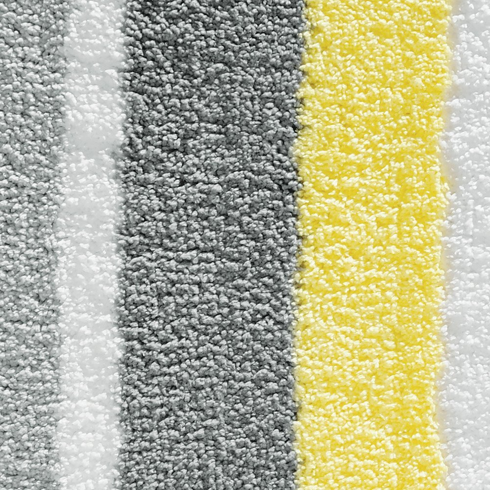 Amazon.com: InterDesign Microfiber Stripz Bathroom Shower Accent Rug, 21 X  17, Gray/Yellow: Home U0026 Kitchen