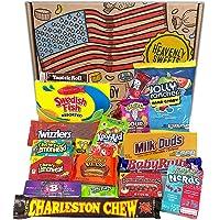 Amerikansk godis och choklad present box - Klassiska USA Varumärken, Gott Godis och Choklad, Perfekt Present för barn…