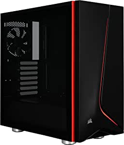 CORSAIR CARBIDE SPEC-06 Mid-Tower Gaming Case, Tempered Glass- Black