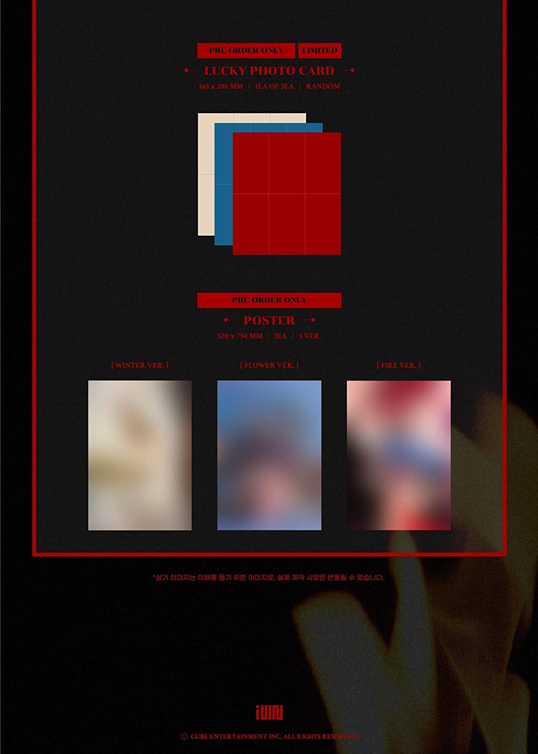 4th Mini Album G I-DLE CD+Booklet+Folded Poster+Others with Tracking Pre Order Random ver. Photocards I Burn Extra Decorative Stickers