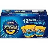 KRAFT Macaroni & Cheese Dinner Cup Easy Mac Original, 58 grams Cups (Pack of 12)