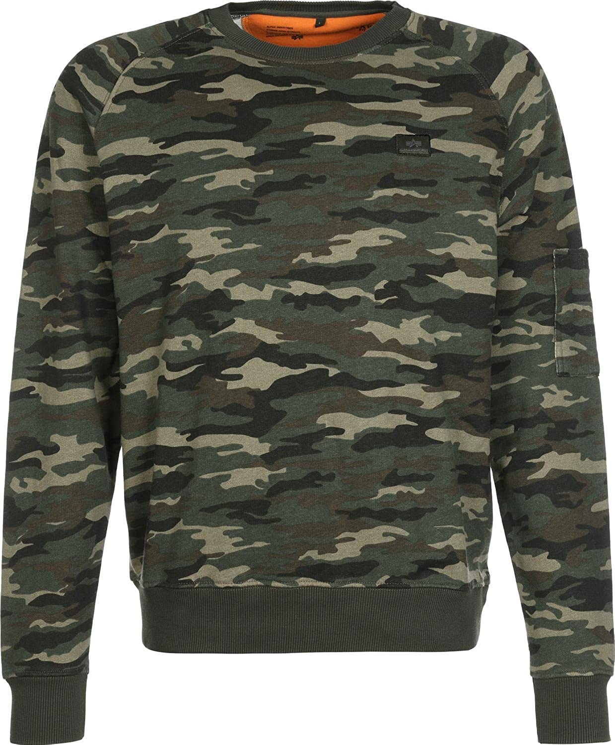 Alpha Industries Sweater X-Fit, Farbe:woodl.-camo;Größe:M