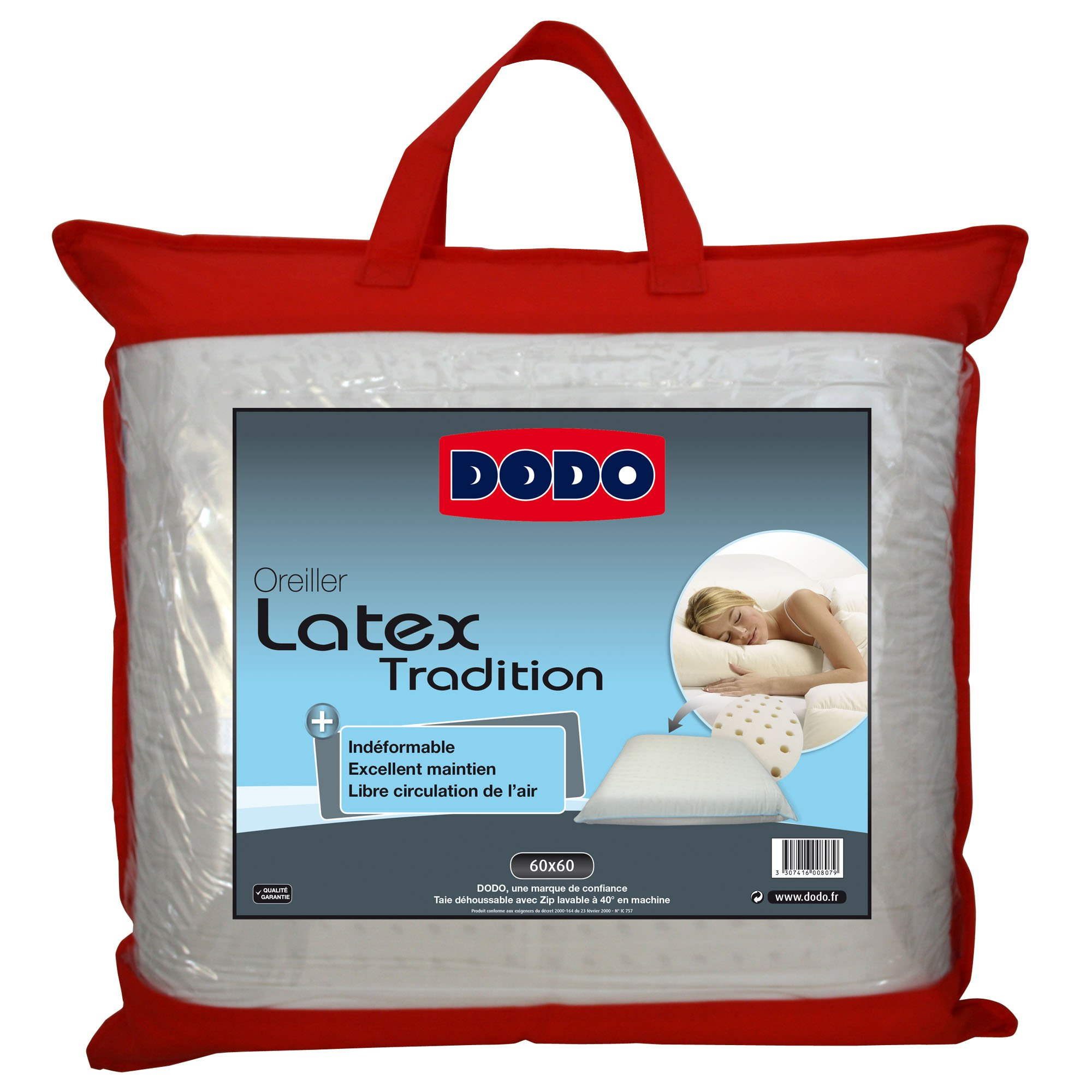 Dodo 60080.606 Oreiller Ergonomique Latex 60 cm x 60 cm product image