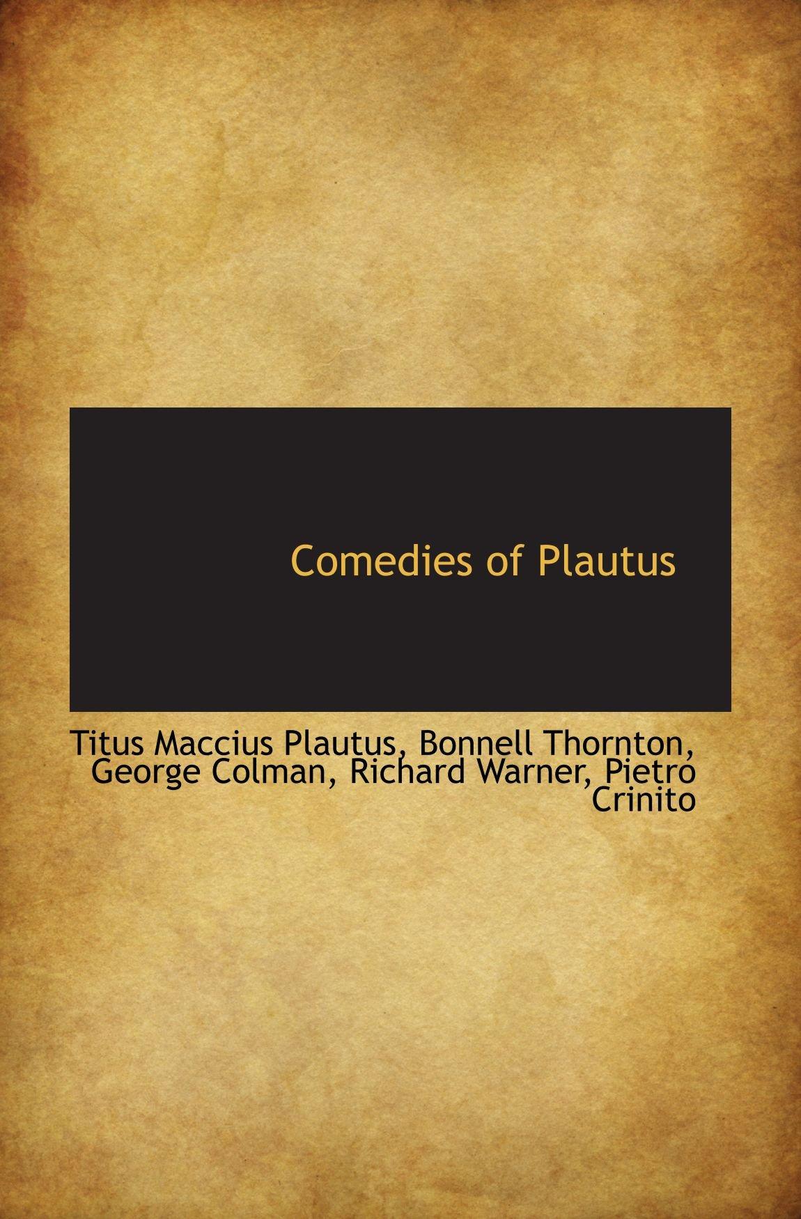 Comedies of Plautus pdf epub