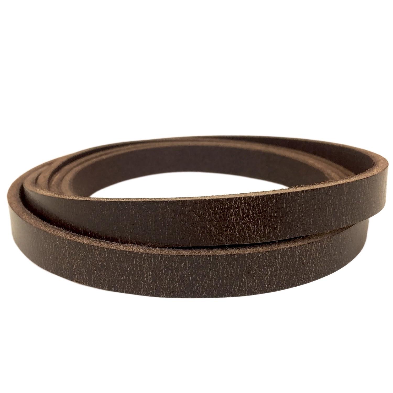 1, Antique Mahogany Springfield Leather Companys Buffalo Leather Strips