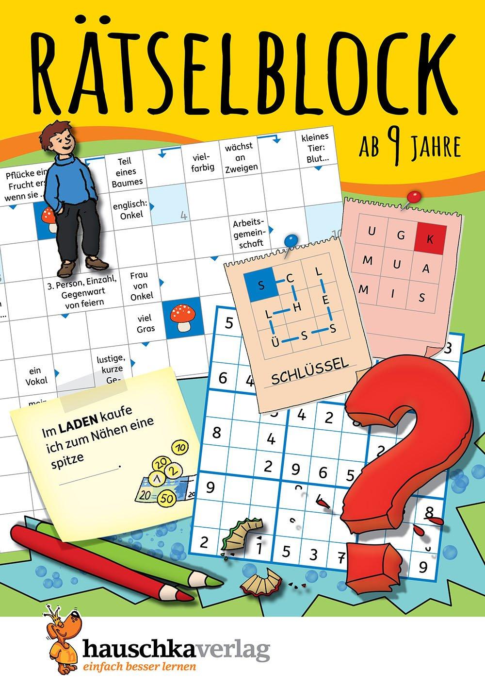 Rätselblock ab 9 Jahre: Kunterbunter Rätselspaß: Labyrinthe, Fehler ...