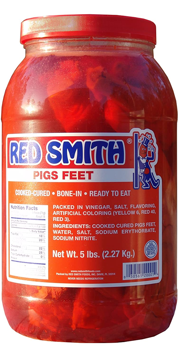 Amazon Com Red Smith Pickled Pigs Feet 5 Lb Jar Pork Grocery Gourmet Food