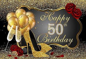 Amazon.com: Fabuloso fondo de 50 felices cumpleaños para ...