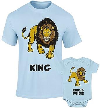 58ebfbc1 SuperPraise Father Daddy Daughter Dad Son Matching T Shirts King Lion &  King's Pride: Amazon.co.uk: Clothing