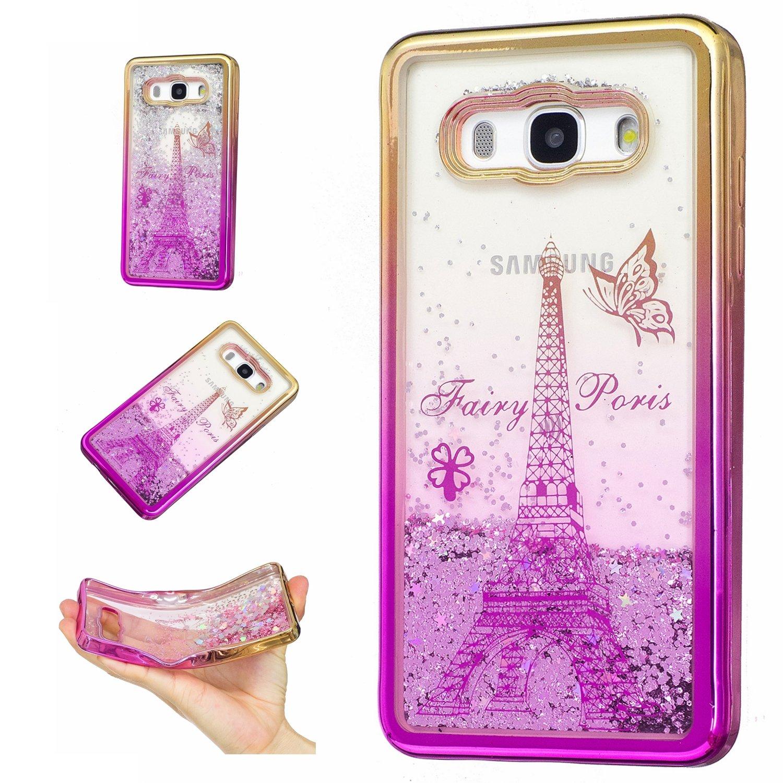 Samsung Galaxy J5 2016 / J510 Hülle Silikon Glitzer Flüssig, Lomogo Schutzhülle Stoßfest Kratzfest Handyhülle Case für Samsung Galaxy J5 (2016) - HUXI23367 #6