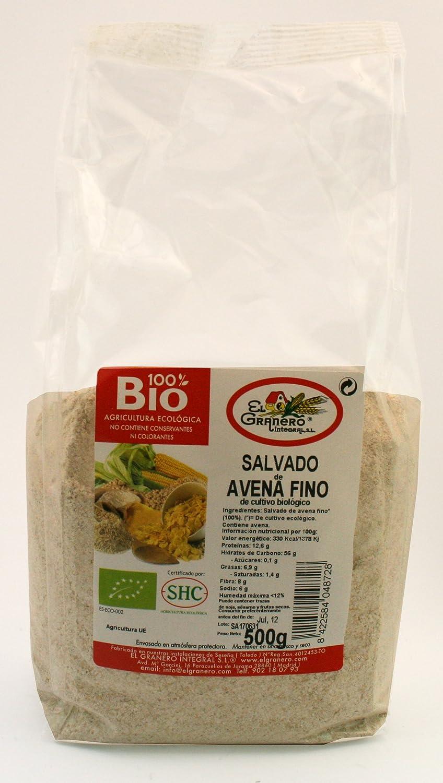 Cereales El Granero Integral Salvado De Avena Fino Bio Bolsa 500 G: Amazon.es: Alimentación y bebidas