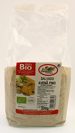 Cereales El Granero Integral Salvado De Avena Fino Bio Bolsa 500 G