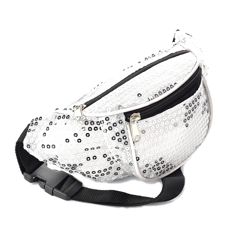 Allsorts/® Silver Sequin Bum Bag//Fanny Pack Festivals//Club Wear//Holiday Wear