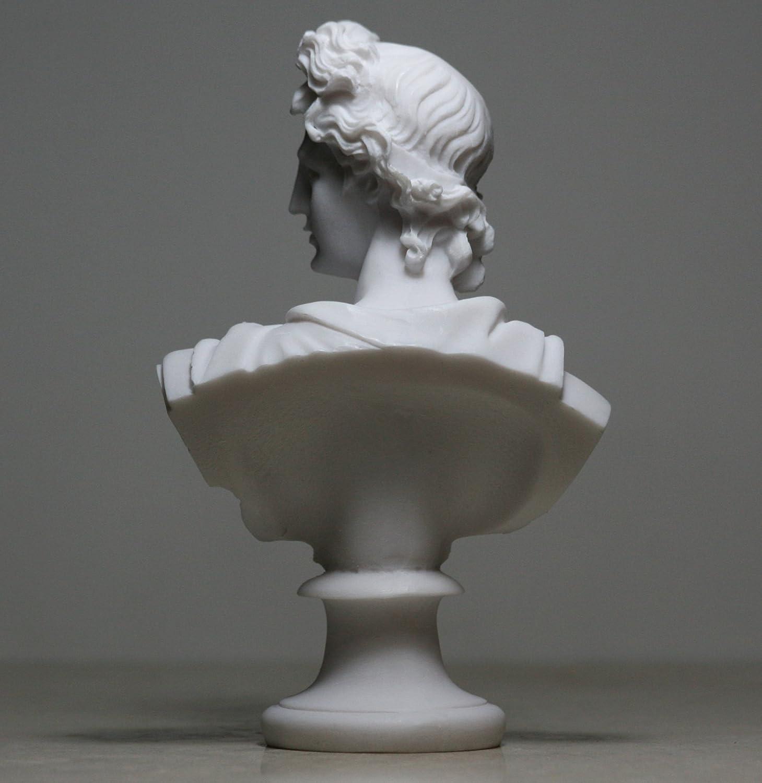 /Dios de m/úsica y luz alabastro Busto Cabeza Estatua Escultura 5,9/΄ ΄ Desconocido Apollo/