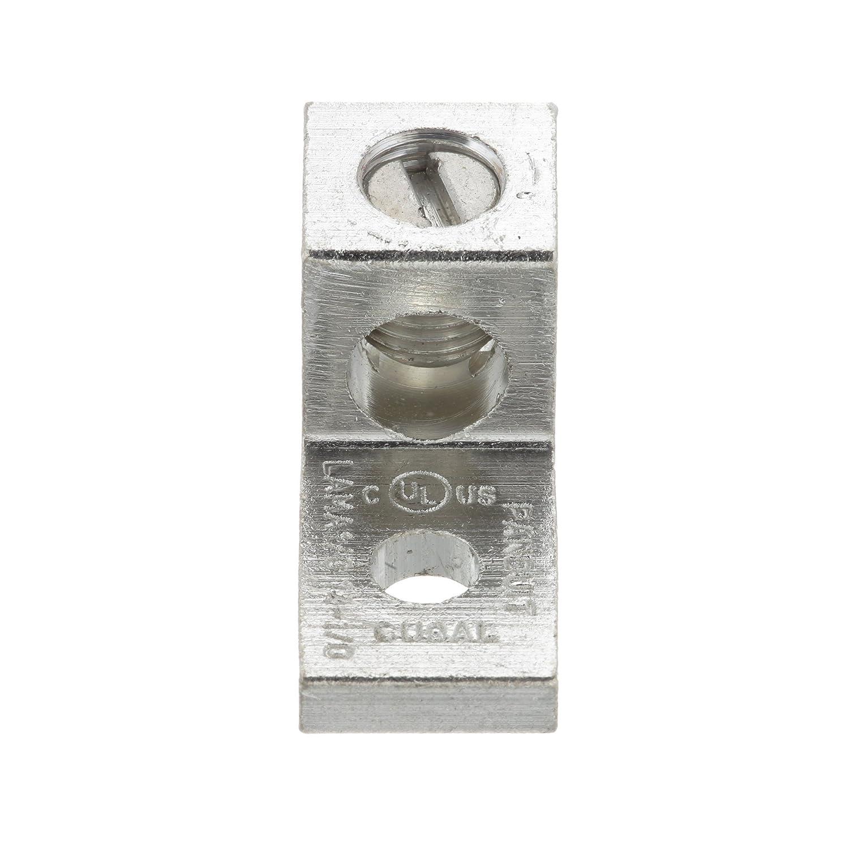 Single Barrel Lug Panduit LAMA6-14-QY One-Hole #6 AWG #14 Type LAMA 1//4-Inch Stud Hole Aluminum