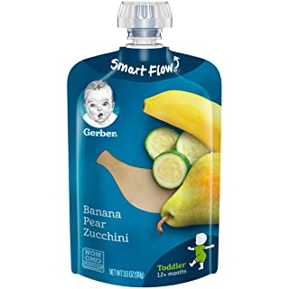 Gerber Purees Banana Pear Zucchini Toddler Pouch (Pack of 12)