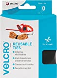 VELCRO Brand ONE-WRAP Reusable Ties | Bundle, Shorten and Secure | Reusable and fully adjustable | Self Gripping, No Knots | 30mm x 5m - Black