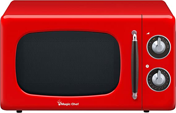 Magic Chef MCD770CR Red 0.7-Cu. Ft. 700W Retro Countertop Microwave Oven