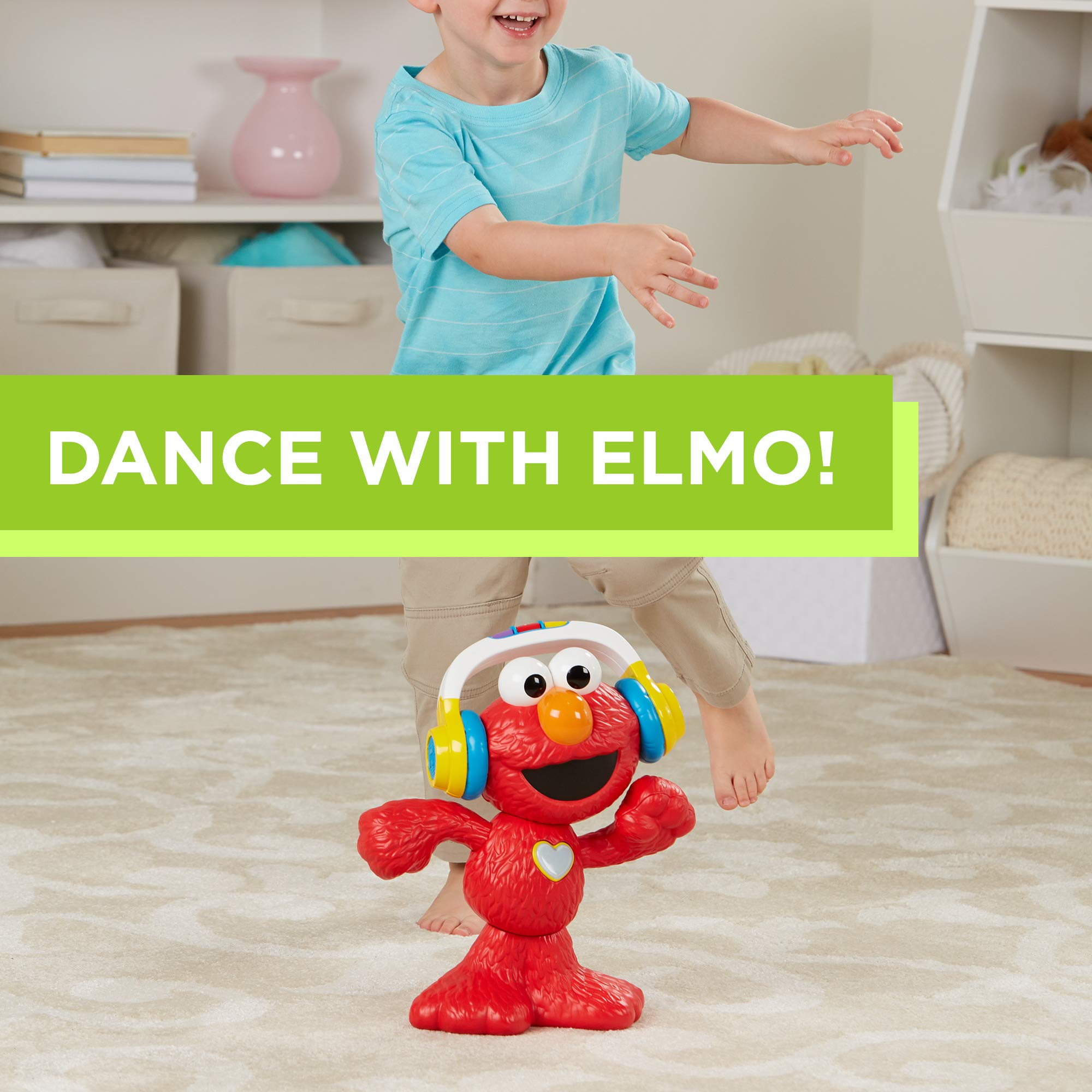 Sesame Street Let's Dance Elmo: 12-inch Elmo Toy that Sings and Dances, With 3 Musical Modes, Sesame Street Toy for Kids Ages 18 Months and Up by Sesame Street (Image #3)