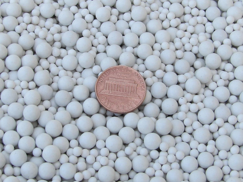 6 mm Polishing Sphere Ceramic Porcelain Tumbling Media Non-Abrasive 4 Lb