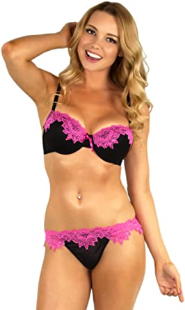 5195ee2756 Honey B Women s Exotic Sunrise Bra Set at Amazon Women s Clothing store
