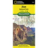 Zion National Park (National Geographic Trails Illustrated Map, 214)