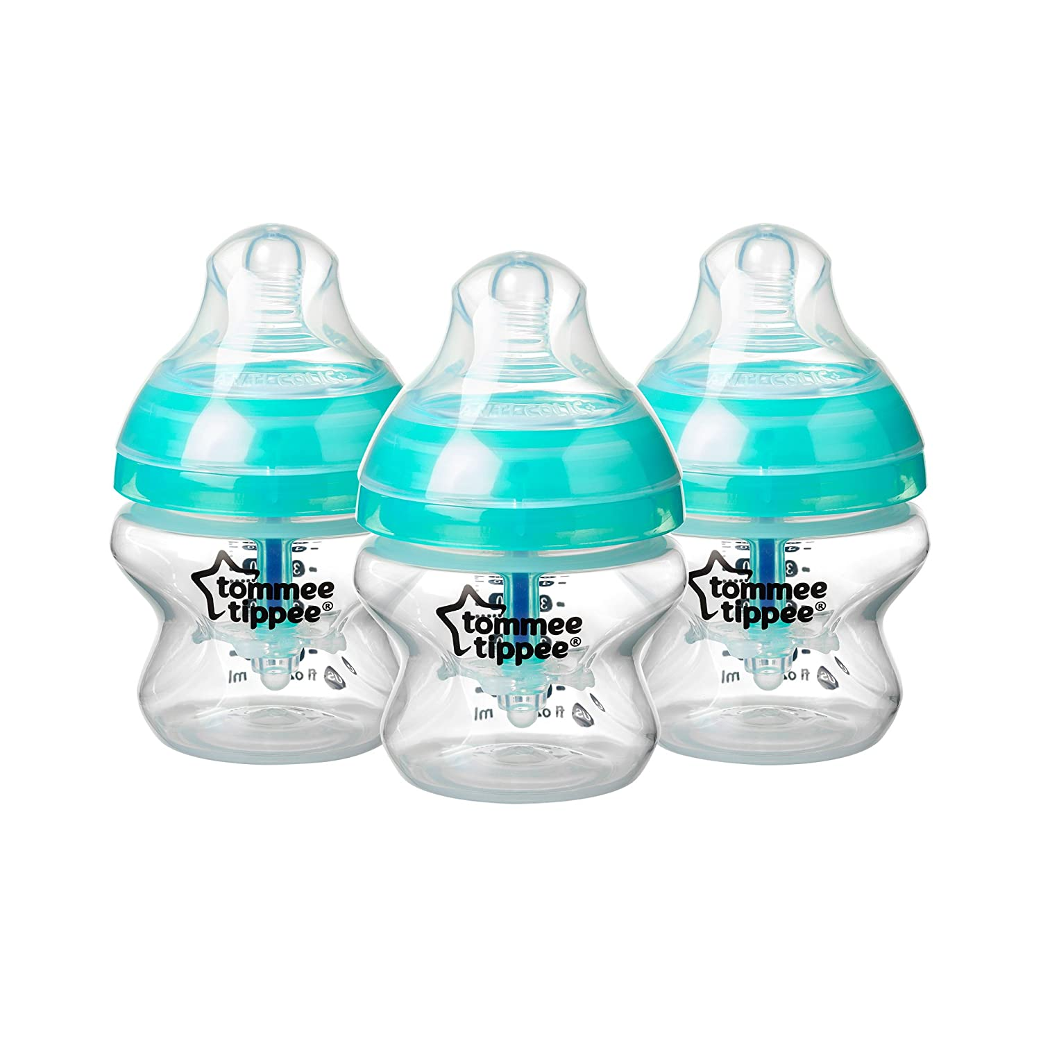Tommee Tippee Advanced Anti-Colic Baby Bottle, 5 Ounce, 3 Count 522730
