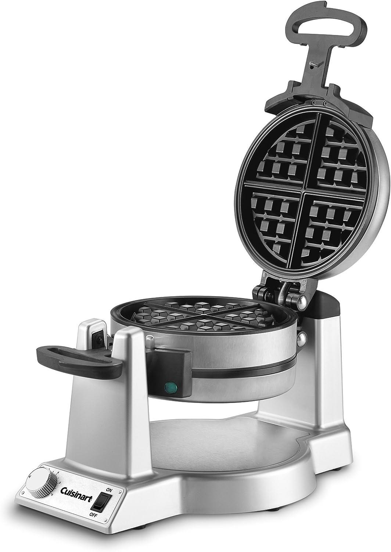 Cuisinart WAF-F20 Double Belgian Waffle Maker, Stainless Steel (Renewed)