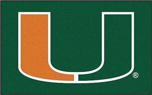 FANMATS NCAA University of Miami Hurricanes Nylon Face Ultimat Rug