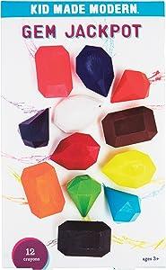 Kid Made Modern Gem Jackpot Crayon Set - 12 Fun Shaped Coloring Crayons