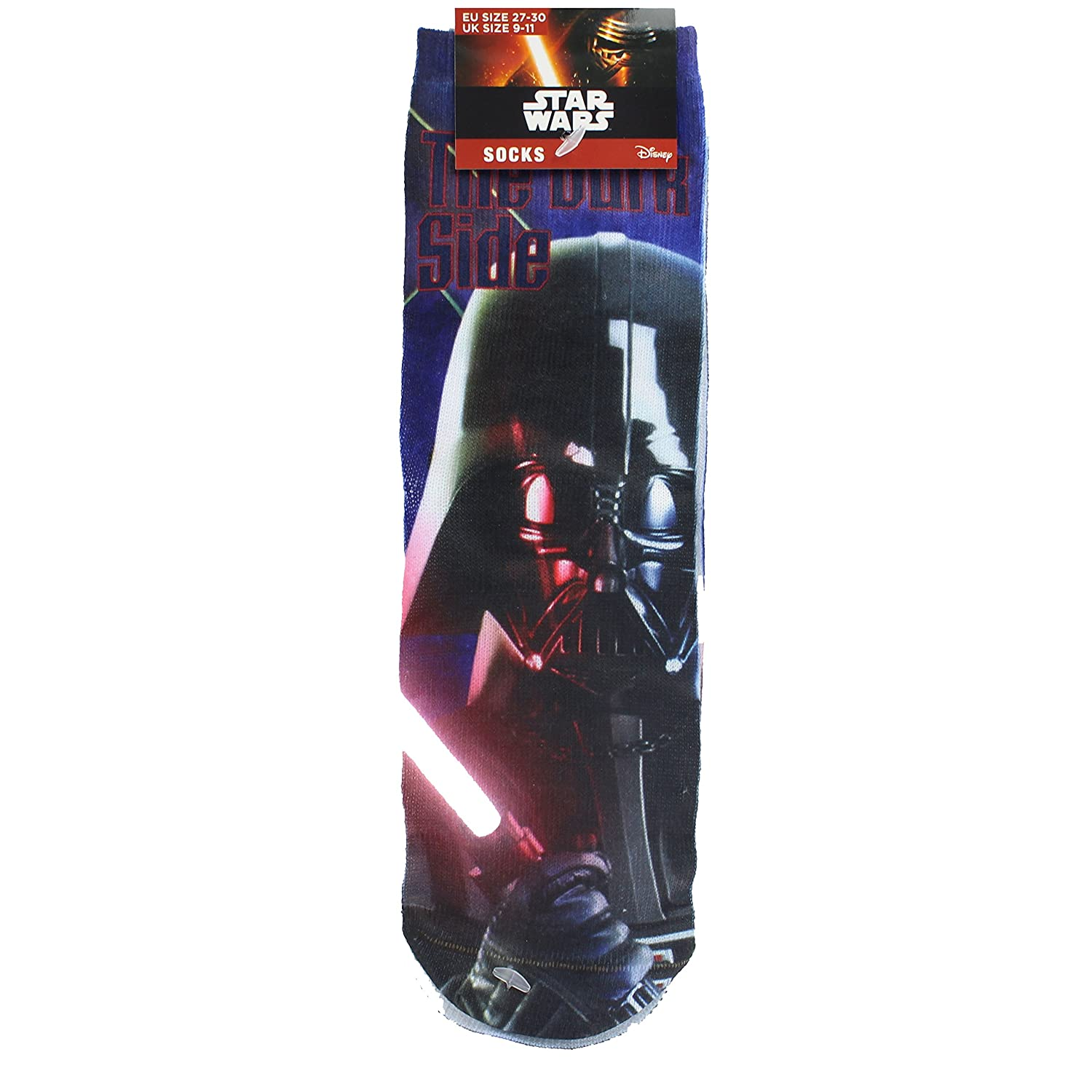 Disney Star Wars Darth Vader Dark Side Printed Children's Socks - UK Size 9-11