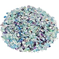 SUNYIK Fluorite Tumbled Chips Stone Crushed Crystal Quartz Pieces Irregular Shaped Stones 1pound(About 460 Gram)