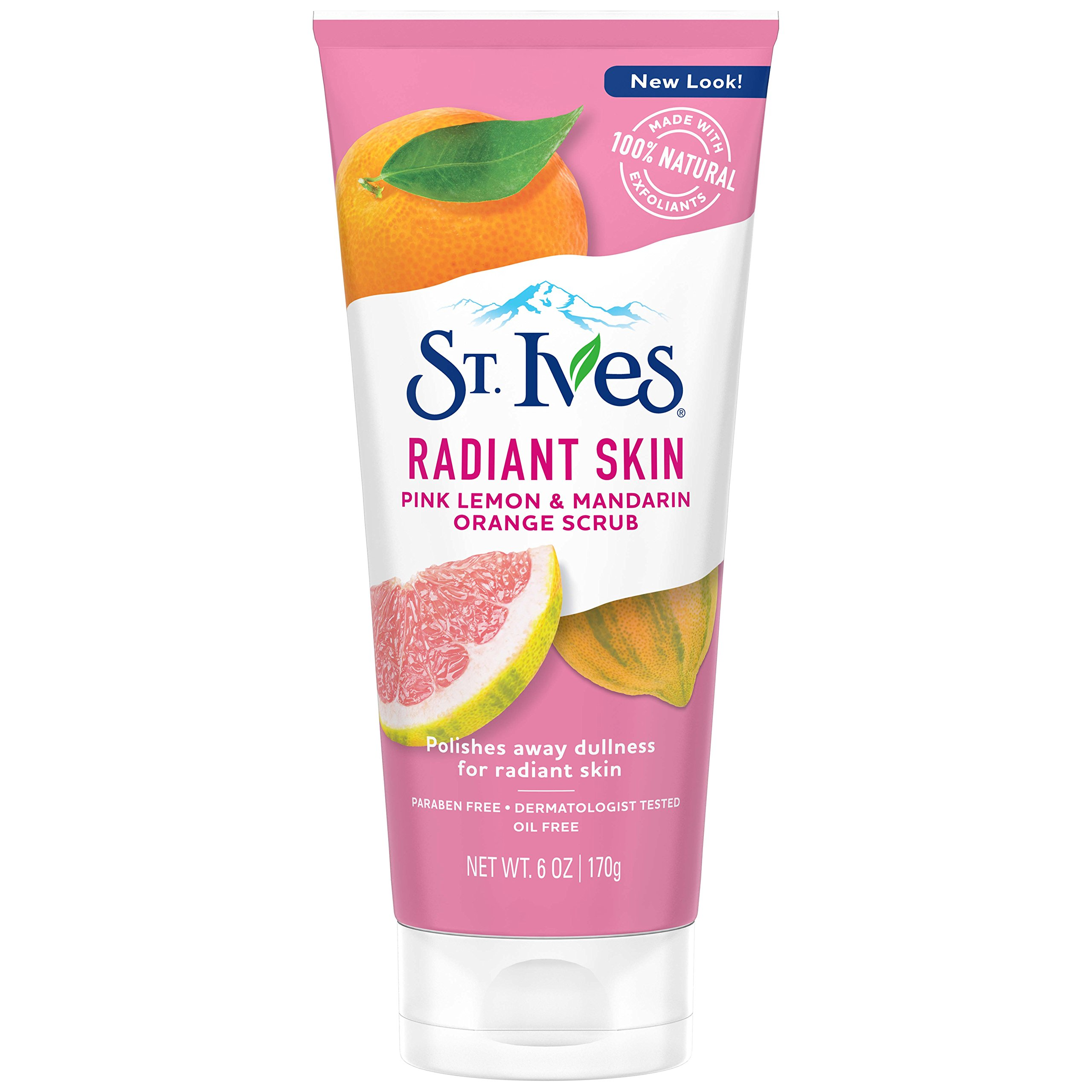 St. Ives Radiant Skin Face Scrub, Pink Lemon and Mandarin Orange, 6 oz