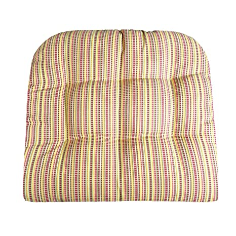 Barnett Products Outdoor Furniture Replacement Cushions   Atwood  Micro Plaid Fiesta Patio Chair Seat Pad
