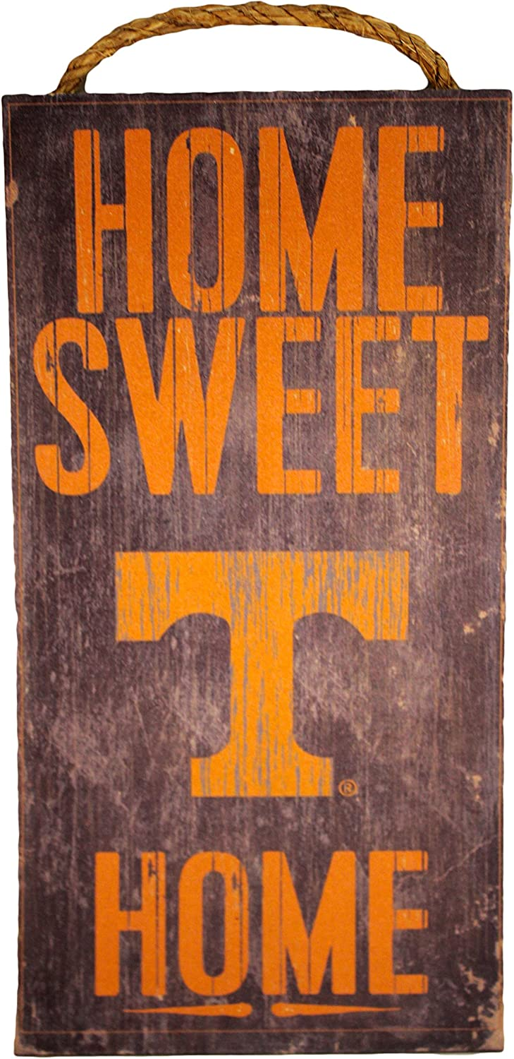 "Fan Creations NCAA Tennessee Volunteers 6"" x 12"" Home Sweet Home Wood Sign"