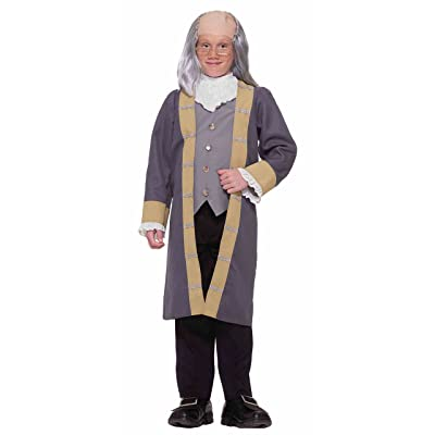 Forum Novelties 77746 Kids Ben Franklin Costume, X-Large, Grey/White, Pack of 1: Toys & Games