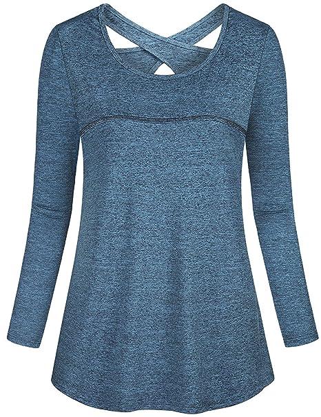 Amazon.com: Misyula - Camiseta deportiva de manga larga para ...
