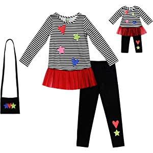Amazon.com  BFF   ME Girls 4 Piece Jogger Pajama Set with Matching ... dc7c269e3