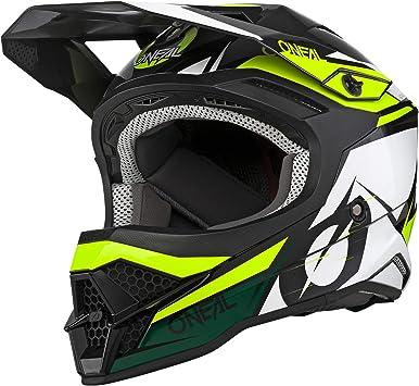 O Neal Motocross Helm Mx Enduro Motorrad Abs Schale Erfüllt Sicherheitsnorm Ece 22 05 Airflaps Kompatibel 3srs Helmet Stardust Erwachsene Sport Freizeit