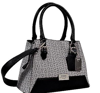 c8966bb8a6 Amazon.com  Guess Transit Small Satchel Tote Bag Handbag Purse - Black   Shoes