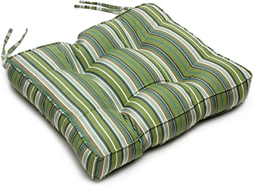 22.5″ x 22″ x 4″ Tufted Sunbrella Chair Back Cushion Sunbrella Foster Surfside