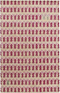 product image for Capel Twigs Red 5' x 8' Rectangle Hand Tufted Rug