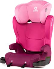 Diono Cambria Booster - 2-In-1 Car Seat - High Back and Backless Booster - Forward-Facing 40-120 Pounds - 6-Position Adjustable Headrest - Roomy Comfort for Your Big Kid - Pink