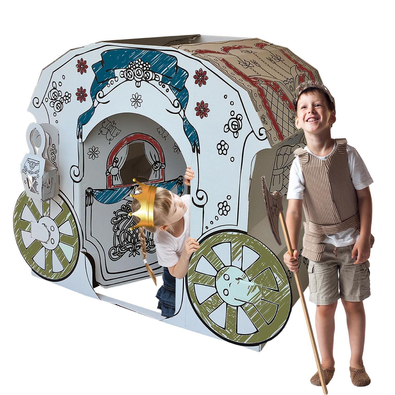 Kucuk Mimar KartonKinder XLarge Cardboard Princess Carriage, Build, Colour and Play