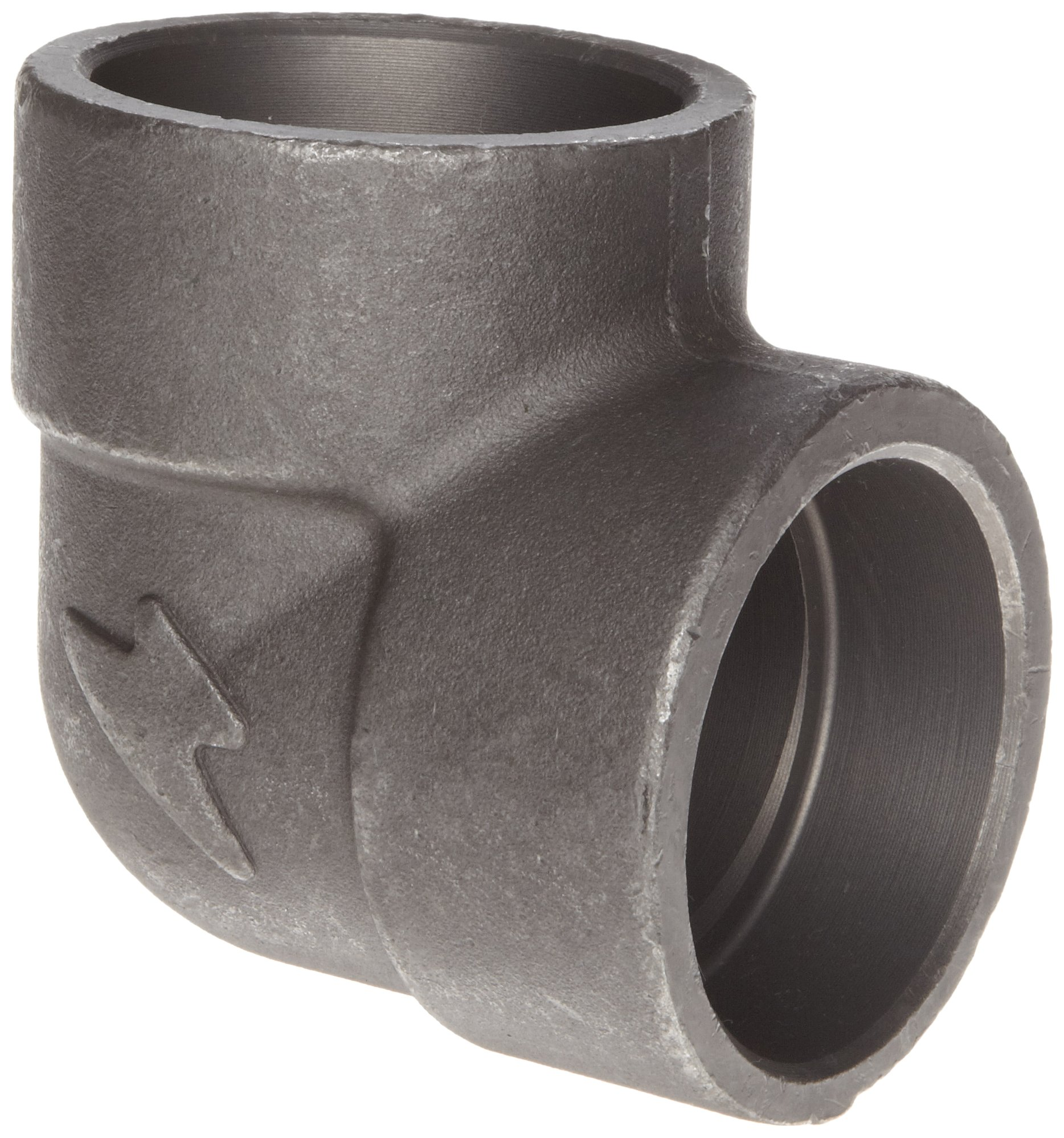 Anvil 2150 Forged Steel Pipe Fitting, Class 3000, Socket Weld 90 Degree Elbow, 3'' NPT Female