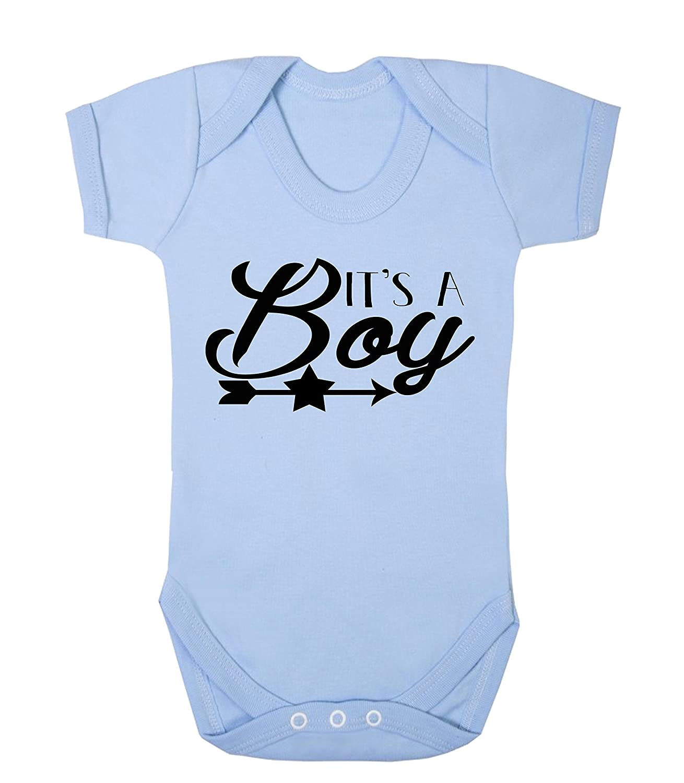 It's a Boy Reveal Baby Vest Babygrow Bodysuit Baby Reveal Pregnancy Annoucment Ickle Peanut