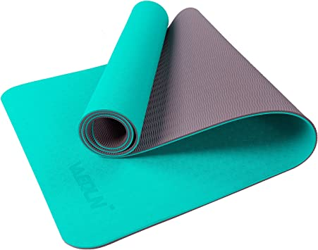Vanerdun Non-Slip Exercise Yoga Mat - Eco-Friendly TPE with Non-Slip Texture on The Surface, High Elastic Professional Sports Mat.Workout Mat for All ...