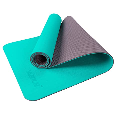 Amazon.com   Vanerdun Non Slip TPE Yoga Mat - Eco Friendly Anti Tear ... e1e4f46b6c623