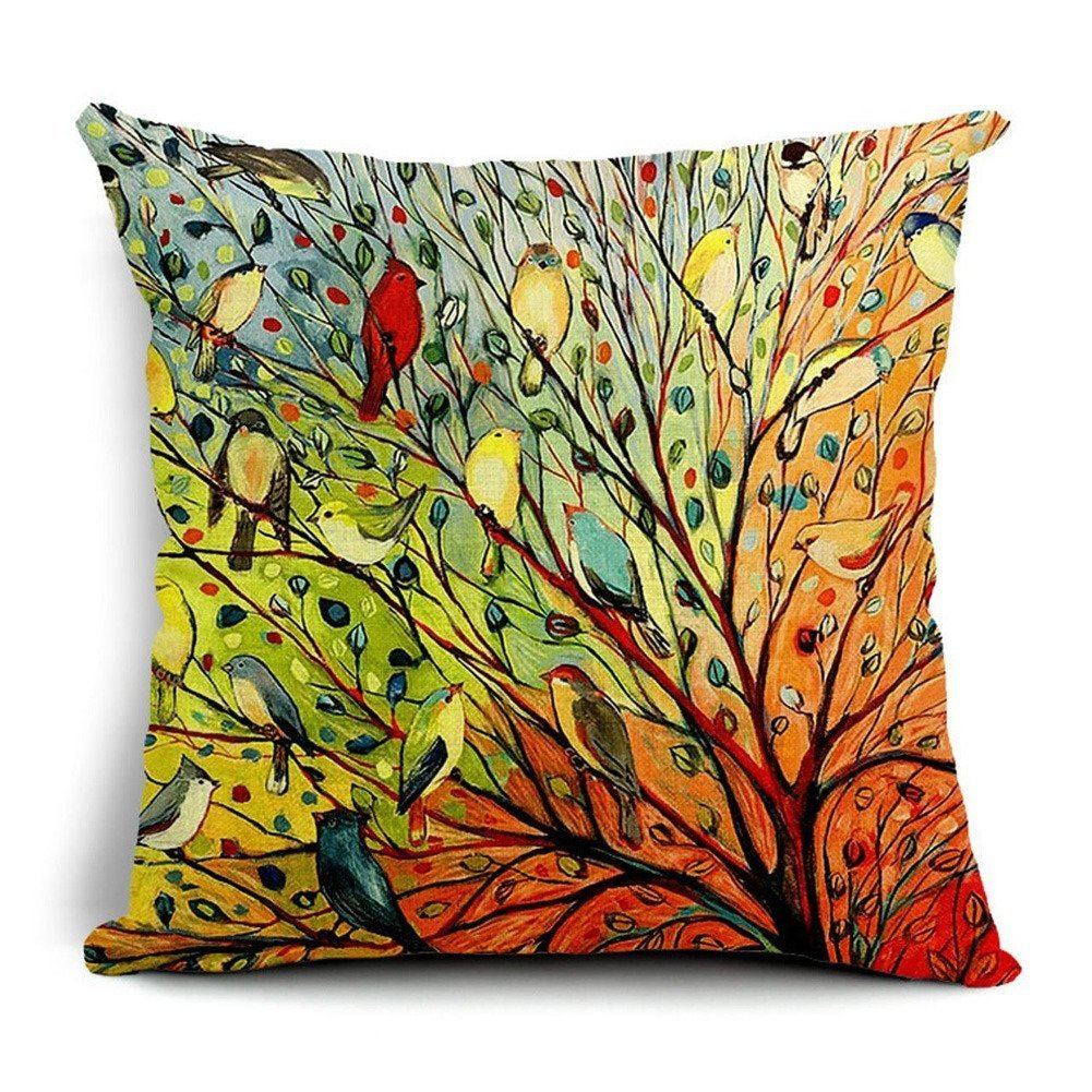 (16 x 16, 6df) - Owl In The Tree CustomSquare Zippered Pillowcase Cover Standard Size 41cm x 41cm Two Sides  6df B00O1WIZLO